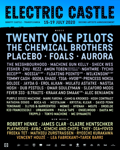 Vestile bune vin de la Electric Castle: The Chemical Brothers, Placebo, Aurora si Machine Gun Kelly printre zeci de noi artisti confirmati